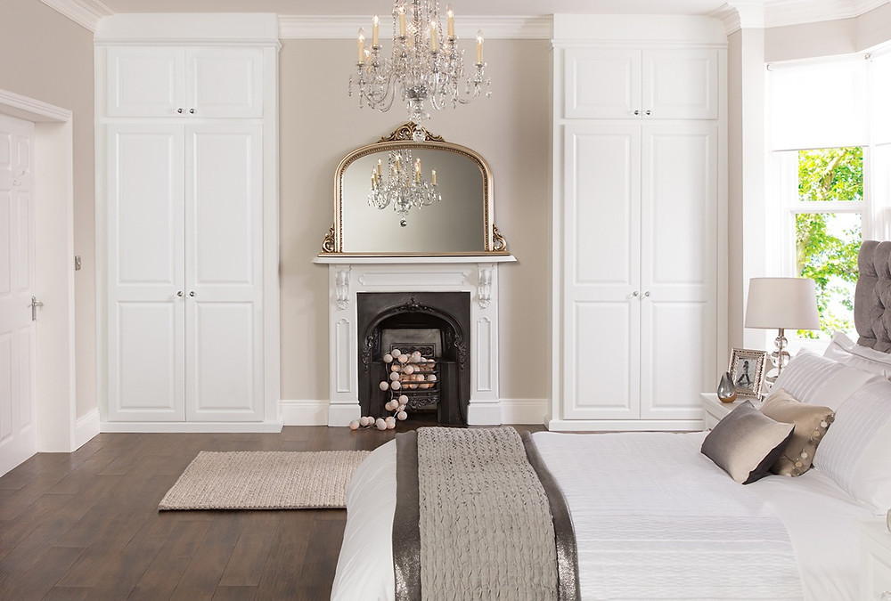 White painted fitted in wardrobes