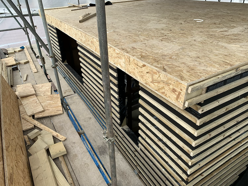 Loft conversion formation with OSB boards and battens