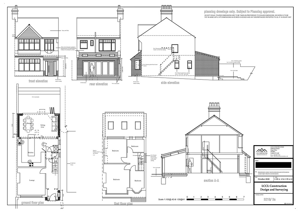 Architecture Design of Rear House Extension in East Barnet, London EN4