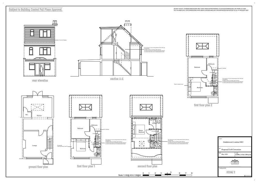 Architectural designer services in Cricklewood, London, NW2 Proposed