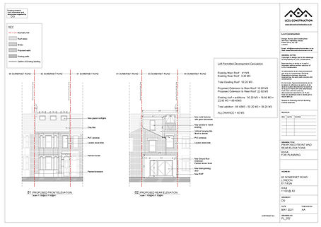 Architecture Services Loft Conversion Rear Home Extension Somerset road Walthamstow London E17