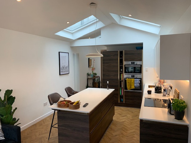 Wrap Around Extension with vaulted Ceili