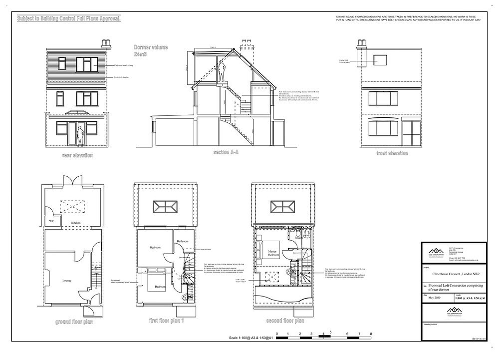 Loft conversion architectural design services Cricklewood, NW2 London