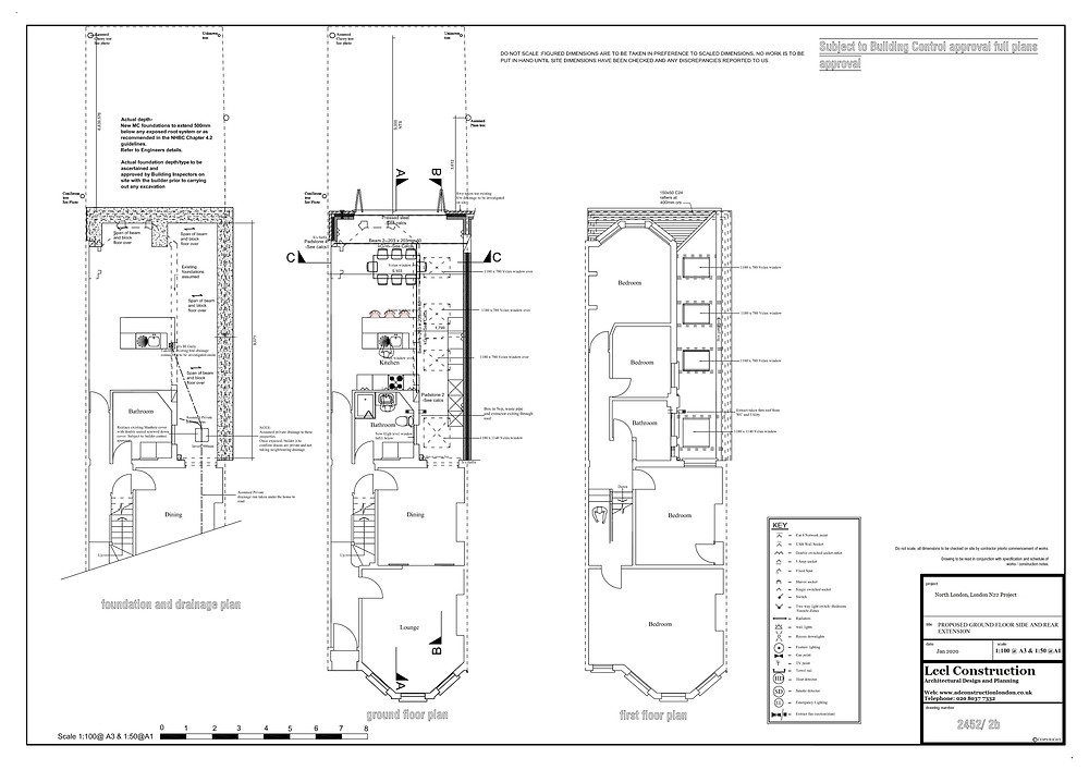 Wraparound rear house extension plans by Lccl Construction