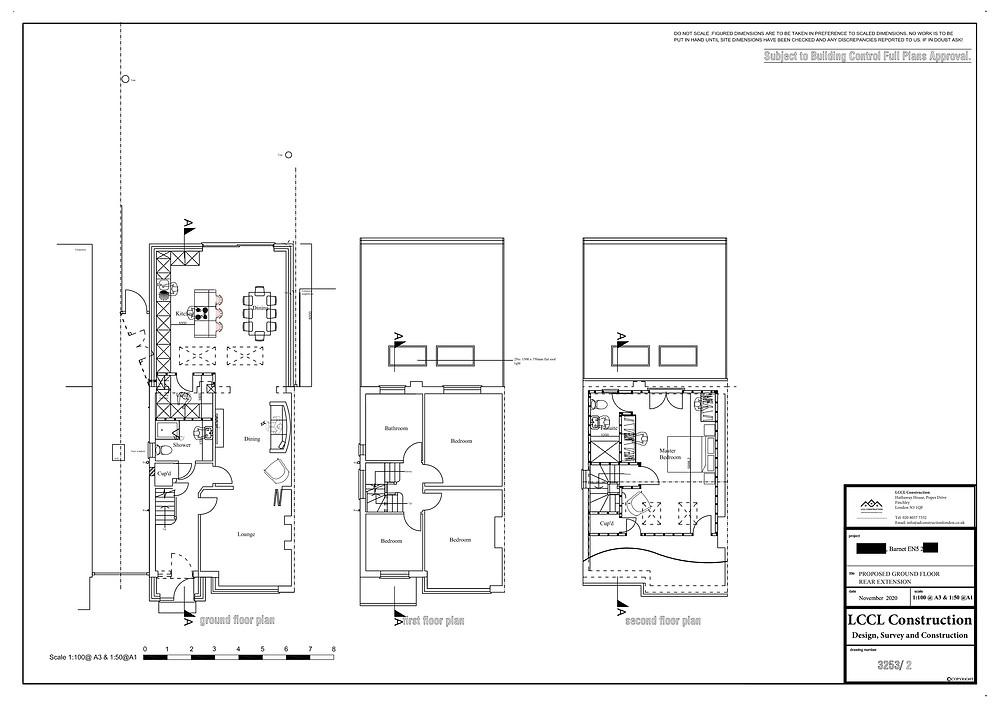 Loft conversion and house extension design High Barnet EN5 London Floor Plans