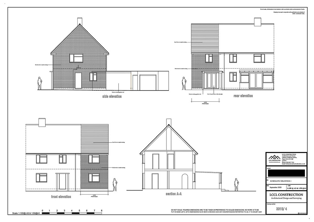 Architecture Drawings Welwyn Garden City AL7 Hertfordshire Two Storey Side Home Extension