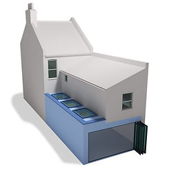 Side Rear Large House Extension Flat Roo