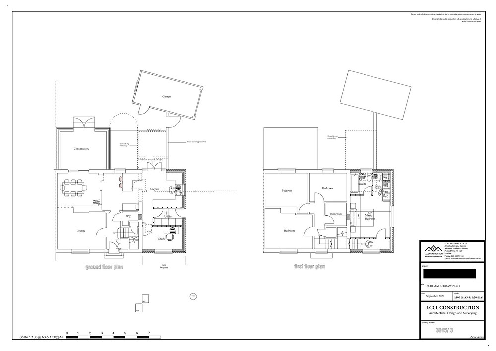 Architecture Drawings Welwyn Garden City AL7 Hertfordshire Two Storey Side Home Extension Floor Plan