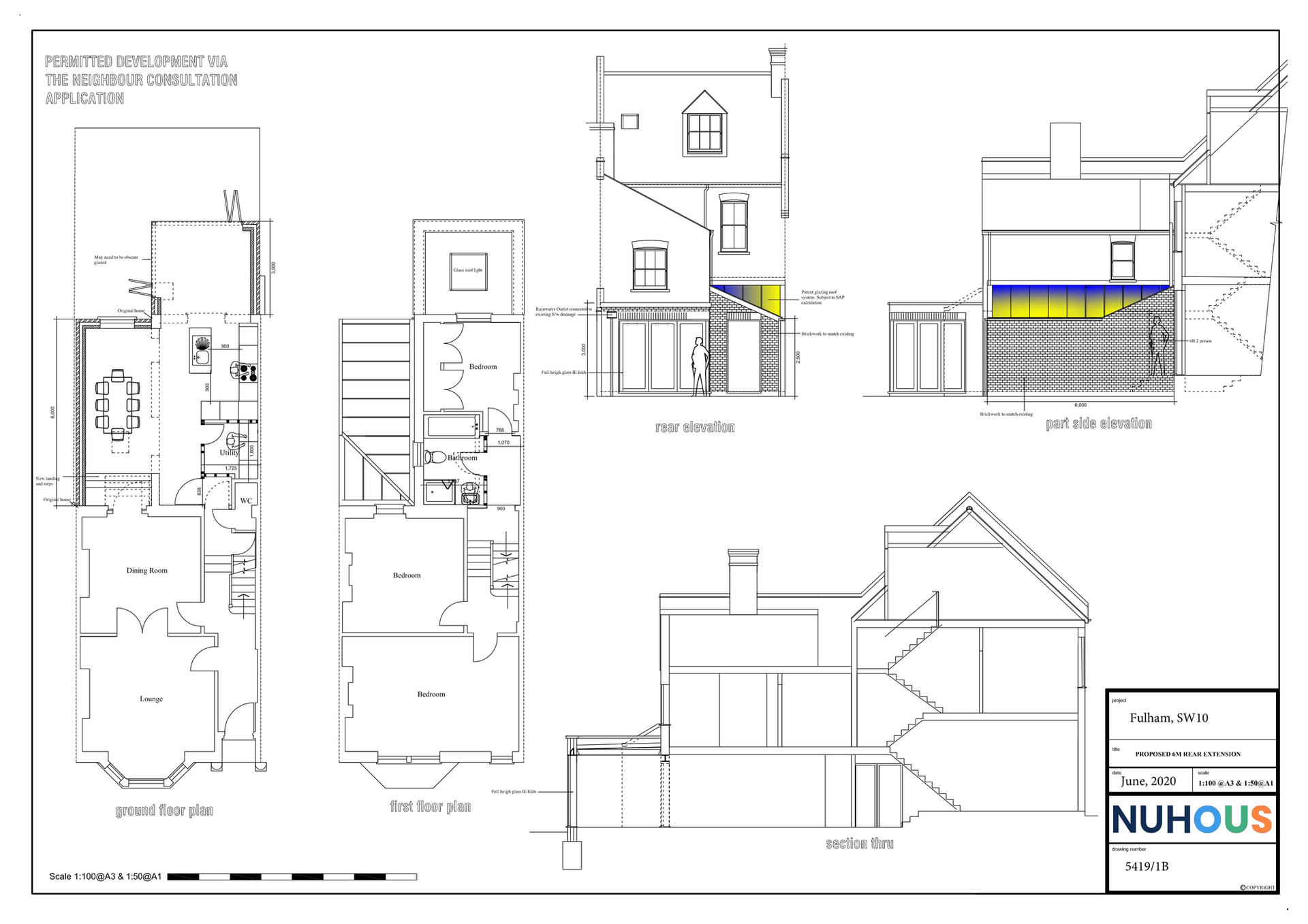 Architecture rear side return extension Fulham SW10 Proposed