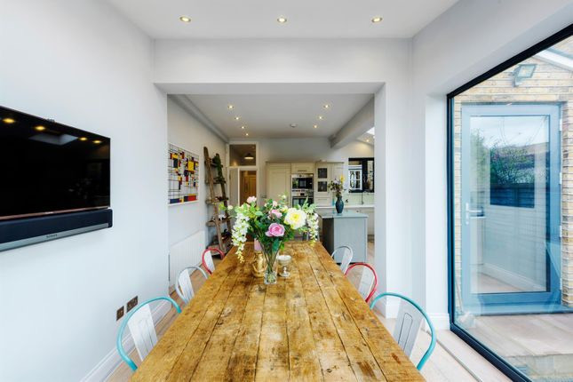 Dining room house extension at rear Ealing London