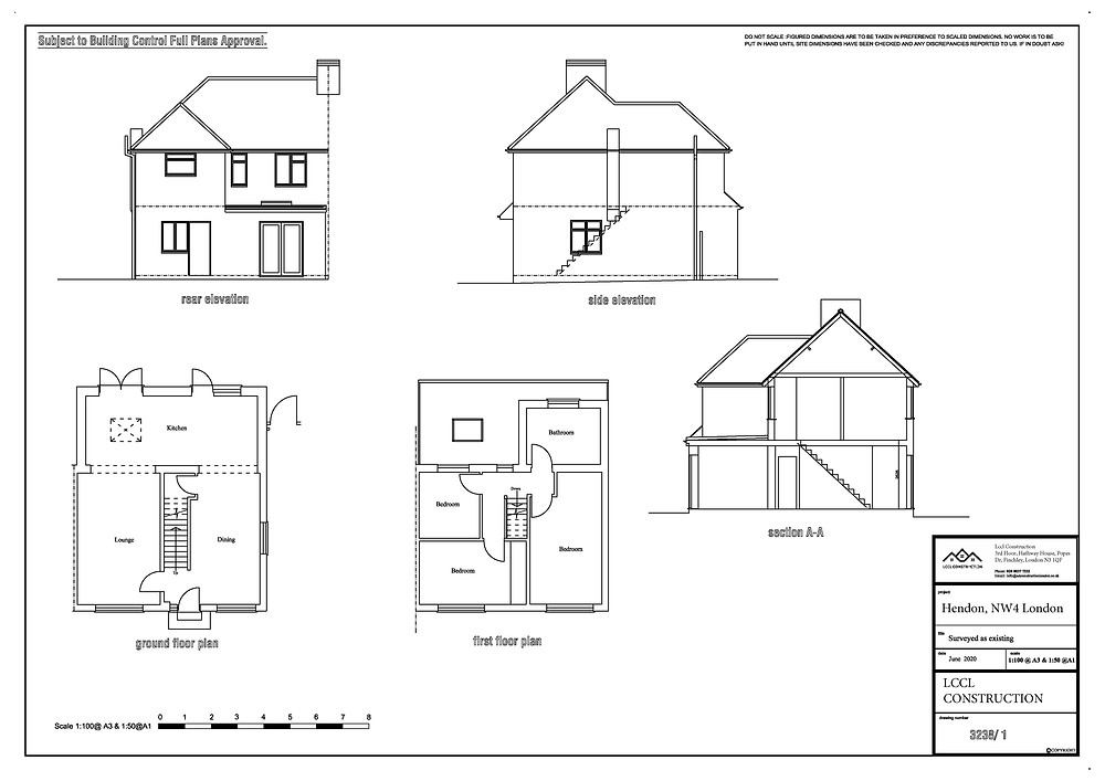 Architecture Drawings Hendon NW4 London Loft Conversion