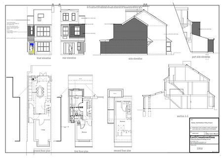 Architecture Services Bushey, Hertfordshire WD23 Two Storey House Extension