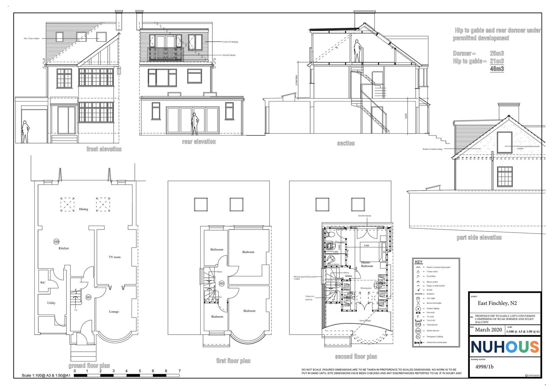 Architecture Loft Conversion East Finchley N2 Proposed