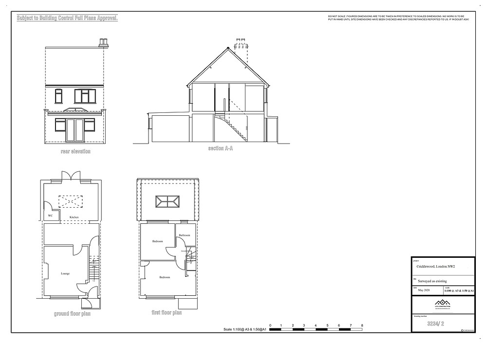 Architectural designer services in Cricklewood, London, NW2 Existing