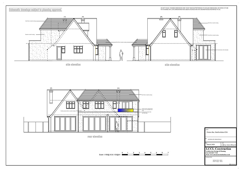 Architecture proposed elevations