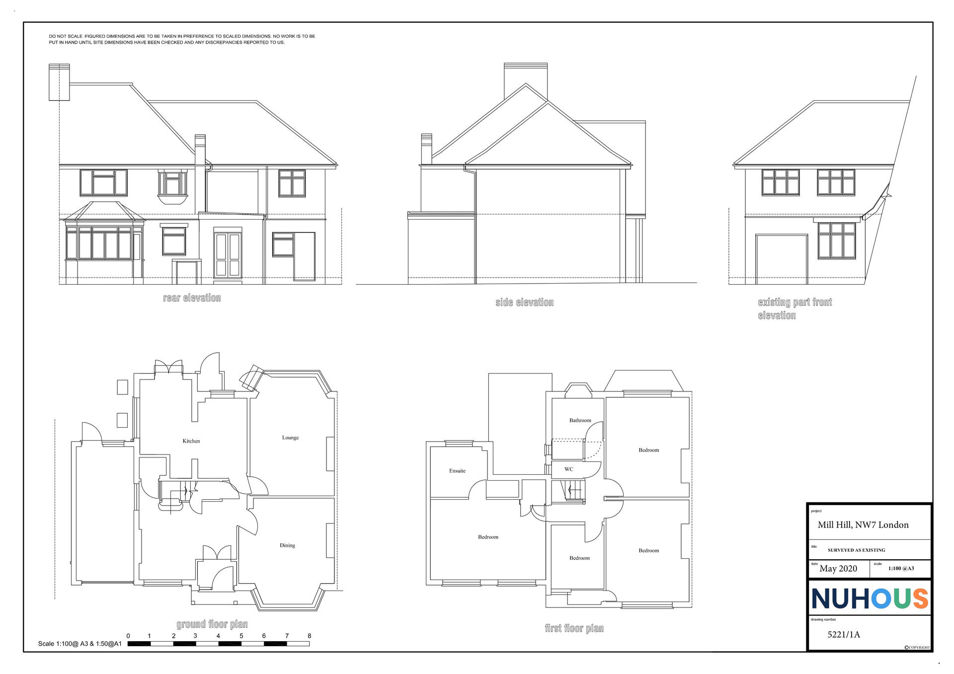Architecture rear home extension Mill Hill NW7