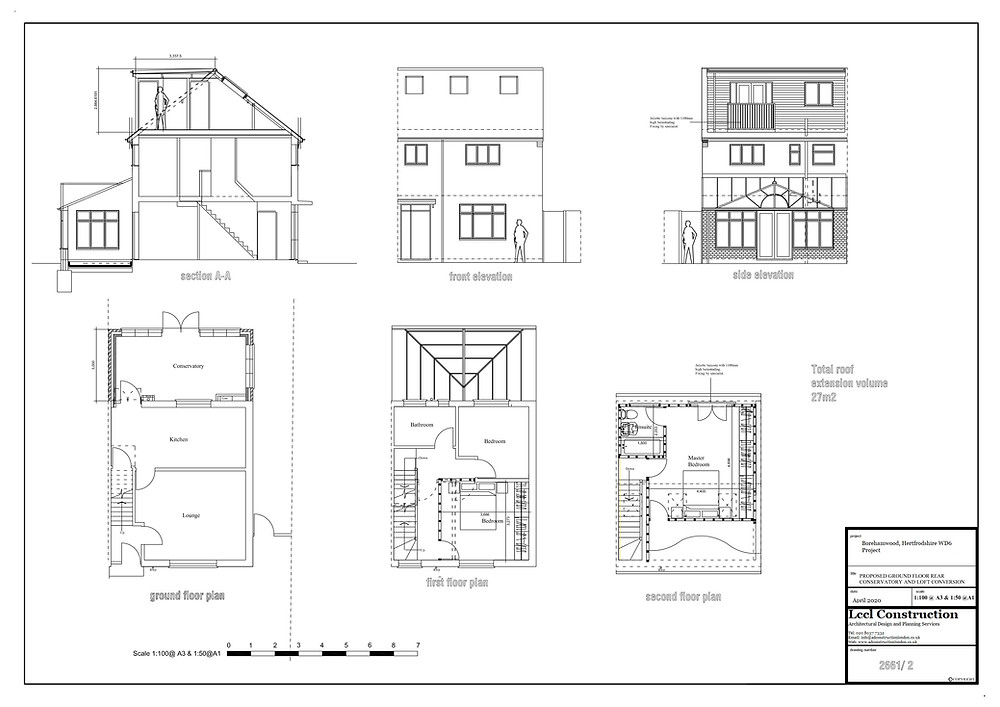 Loft Conversion Architectural Design Services Borehamwood Hertfordshire WD6 Project Proposed