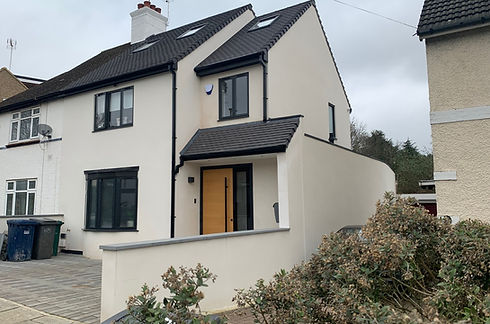 Loft conversion and house extension