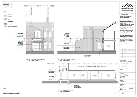 Architecture Services Rear Home Extension York Road Bounds Green London N11