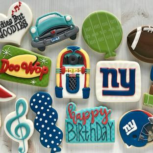 NY Giants Birthday Cookies | Simply Renee Sweets