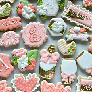 Pink Anderson Wedding Cookies