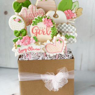 Baby Girl Cookie Bouquet