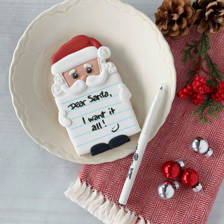 Christmas 2018 Decorated Cookies Note for Santa