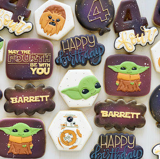 May the Fourth Birthday Cookies
