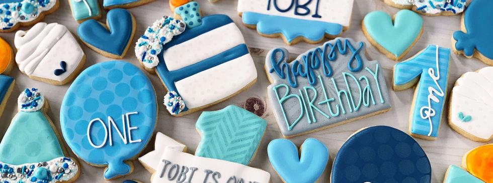 Classic Boy Birthday Cookies | CLASSIC SIZE