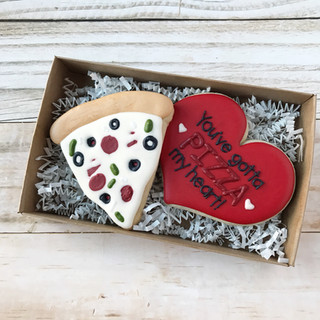 Pizza of Love Decorated Cookies