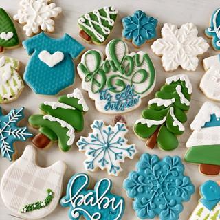 Winter Wonderland Baby Cookies | Simply Renee Sweets