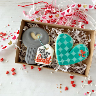 Key to My Heart Decorated Cookies