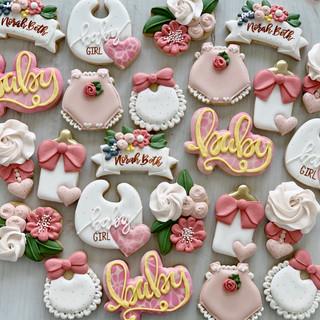 Baby Girl Floral Cookies | Simply Renee Sweets