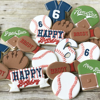Baseball Happy Birthday Cookies | Simply Renee Sweets