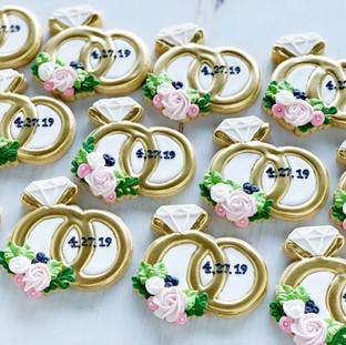 Wedding Ring Wedding Cookies | Simply Renee Sweets