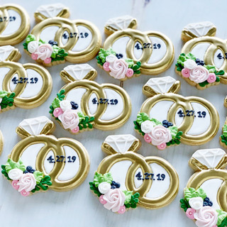 Wedding Ring Wedding Cookies | Simply Renee Sweets