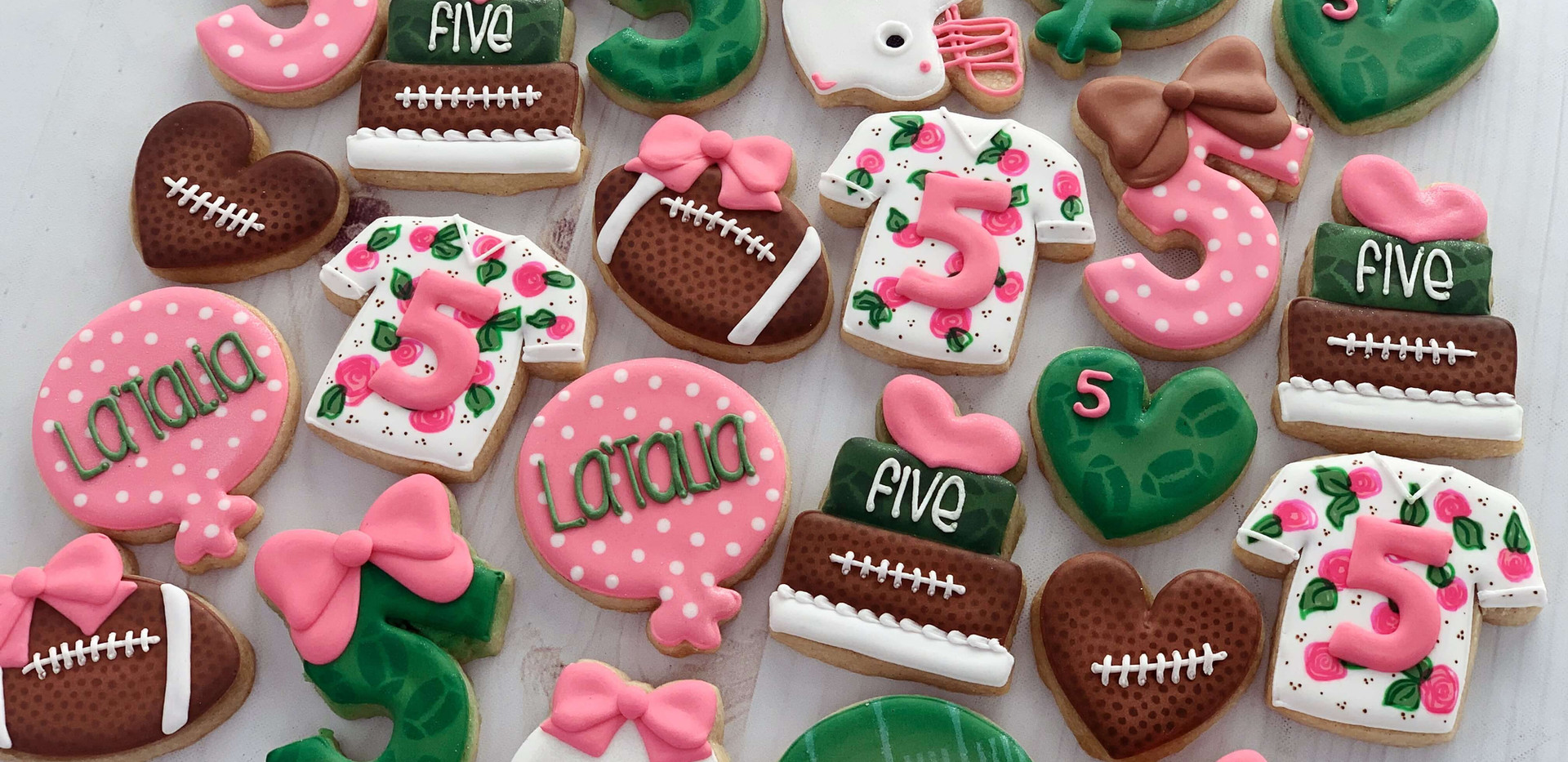 Girl's Football Cookies _ Simply Renee S