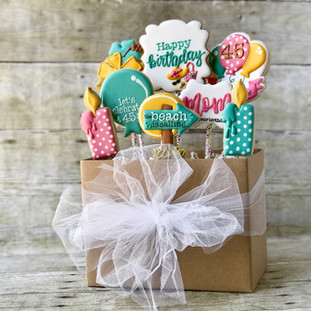 Beach Birthday Cookie Bouquet | Simply Renee Sweets
