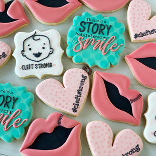 Cleft Strong Decorated Cookies | Simply Renee Sweets