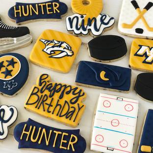 Preds Sports Birthday Cookies | Simply Renee Sweets