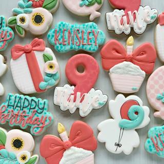 Kensley Birthday Cookies