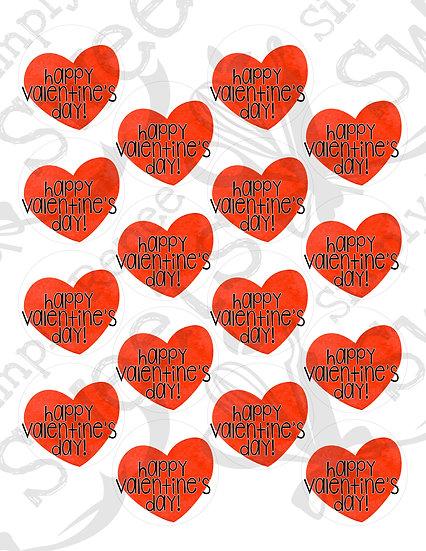 Happy Valentine's Day 1 Tag Printable