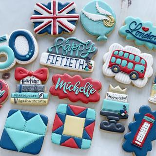 Favorite Things 50th Birthday Cookies   Simply Renee Sweets