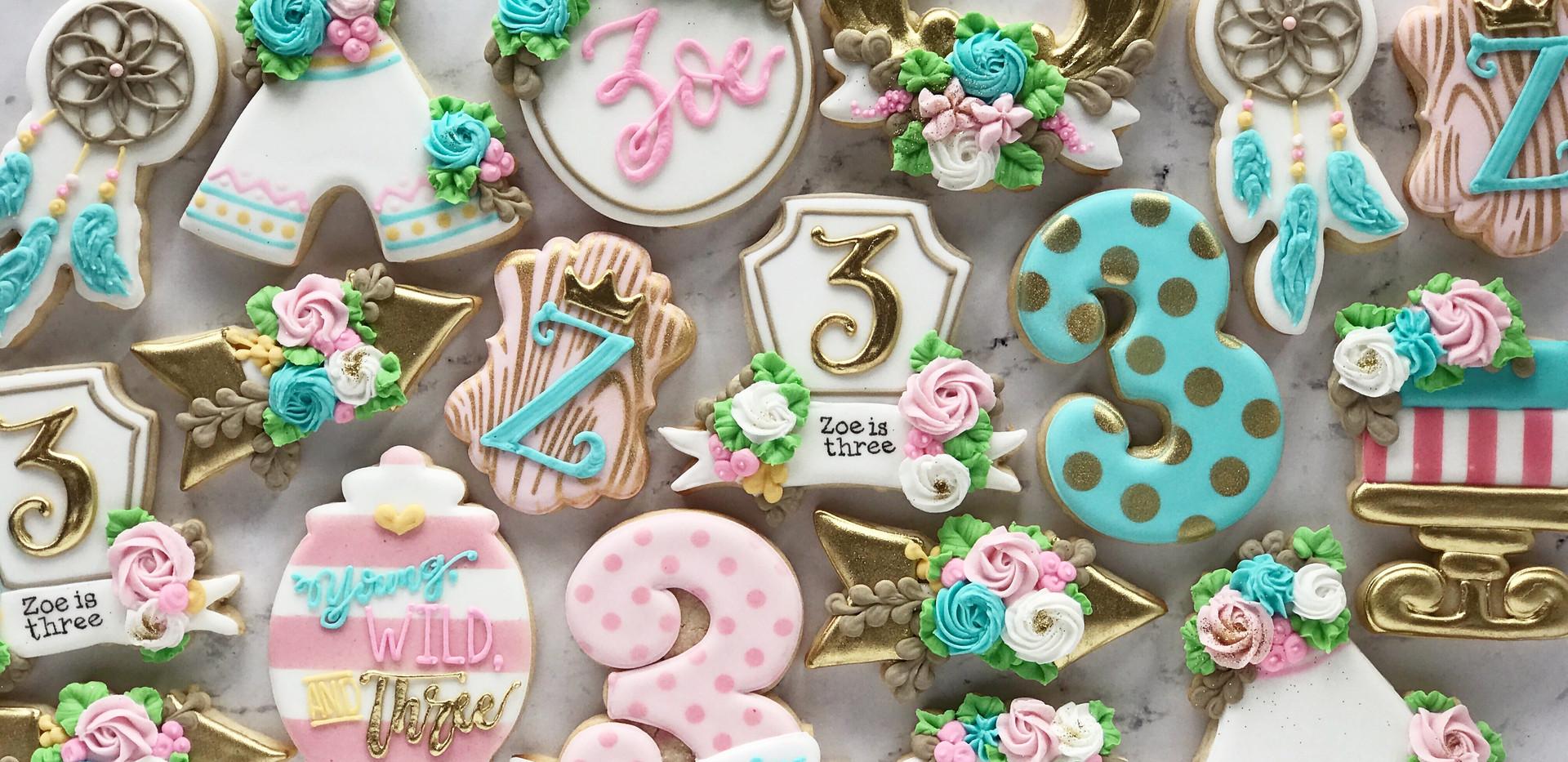 Boho Birthday Cookies _ Simply Renee Swe