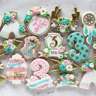 Boho Birthday Cookies | Simply Renee Sweets