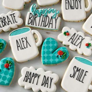 Rae Dunn Birthday Cookies | Simply Renee Sweets