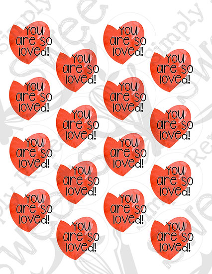 You Are So Loved Tag Printable