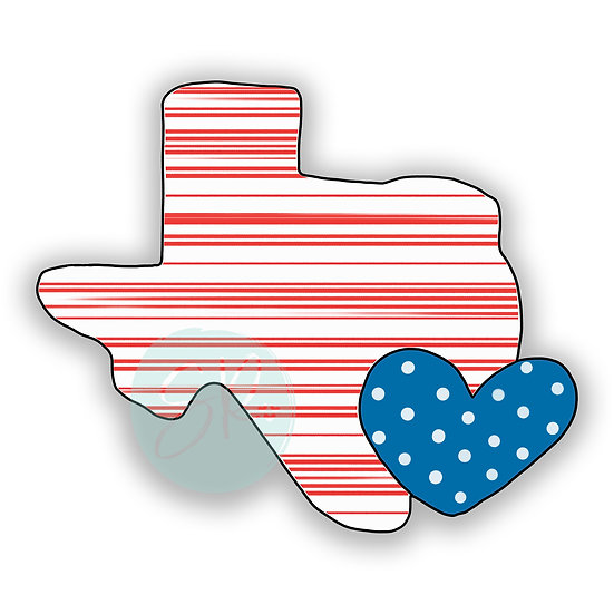 Texas Heart - 4 inch stl file only