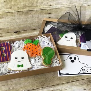 2017 Halloween Decorated Cookies You've Been Booed