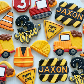 Construction Birthday Cookies | Simply Renee Sweets